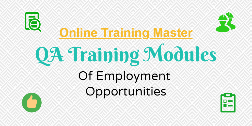 QA Training Module - Online Training Master