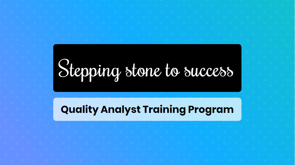 quality analyst training - online training master