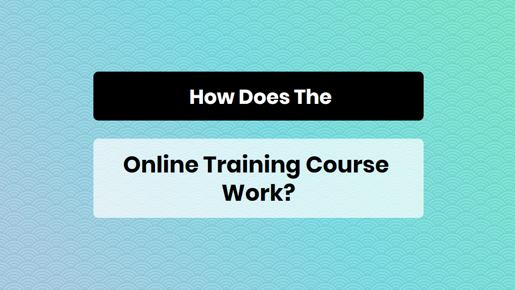 How does the online training course works - online training master