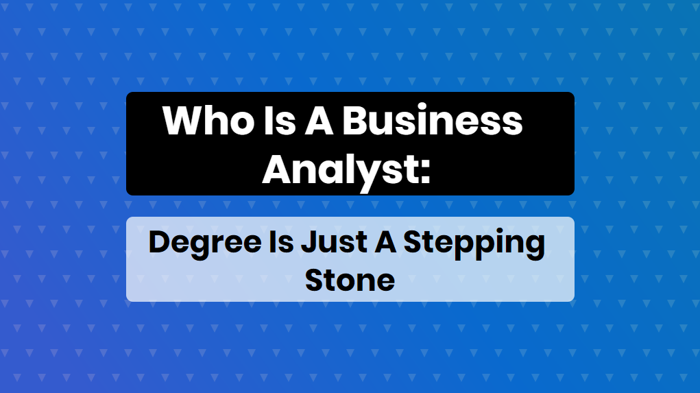 Who is business analyst - online training master